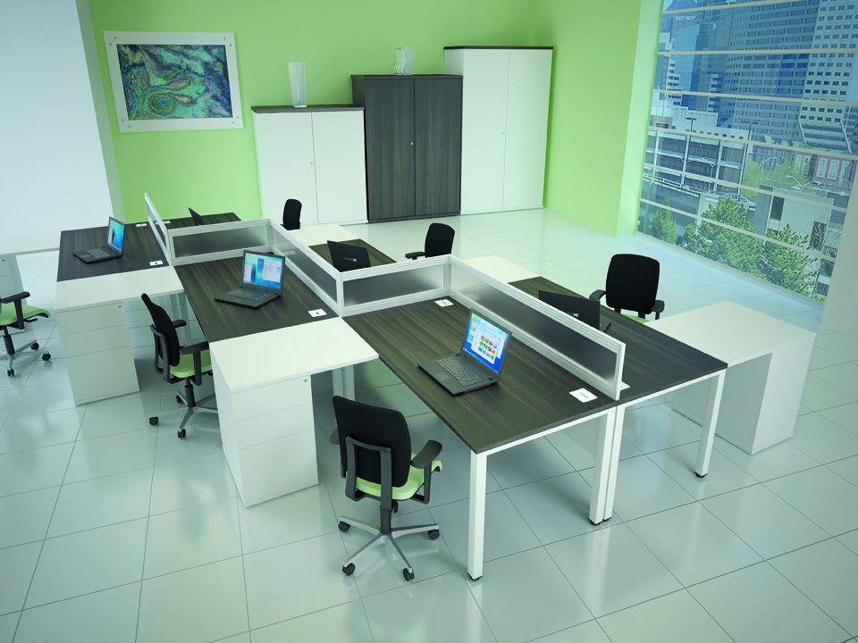 Poise Rectangular Workstations